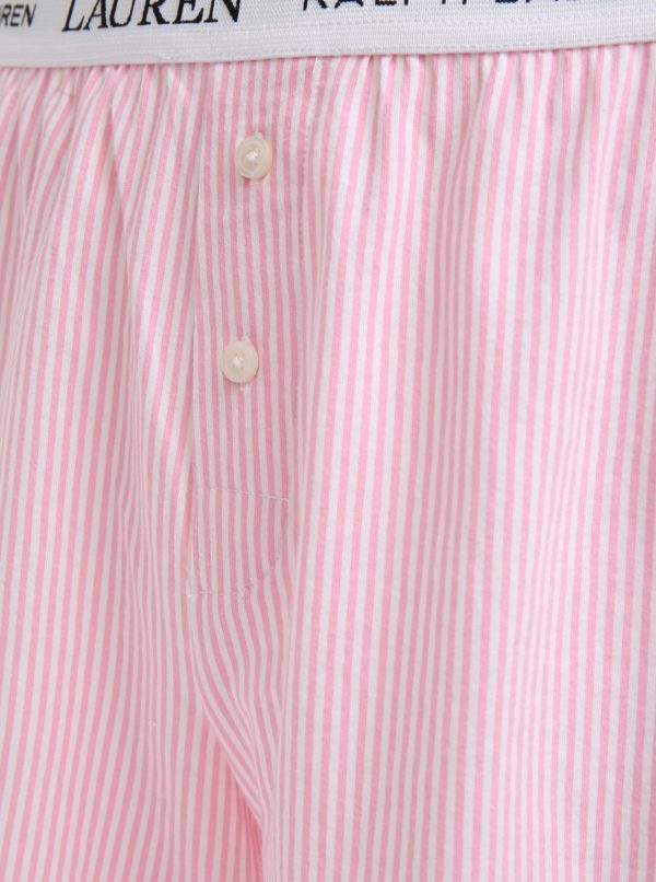 Ružové pruhované trenírky Lauren Ralph Lauren Soft Jersey