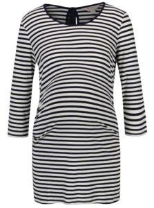 Krémovo-modré pruhované tehotenské tričko Dorothy Perkins Maternity