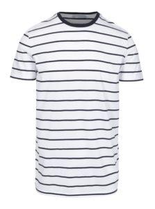 Čierno-biele pruhované tričko Selected Homme Max