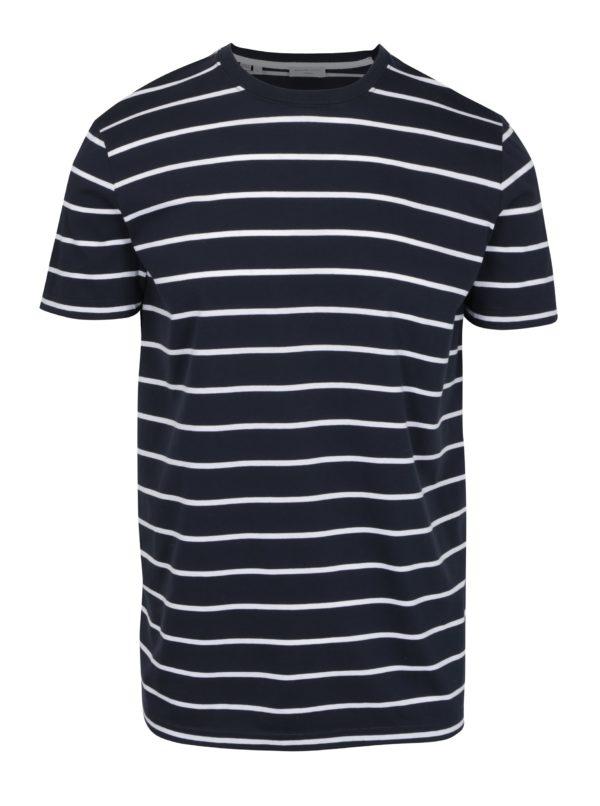 Tmavomodré pruhované tričko Selected Homme Max