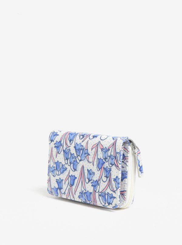 Modro–krémová peňaženka s motívom zvončekov Cath Kidston