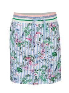 Bielo-modrá kvetovaná sukňa s vreckami Rich & Royal