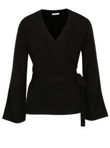 Čierny zavinovací sveter Jacqueline de Yong Bella