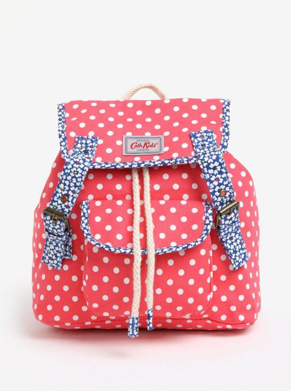 Ružový dievčenský bodkovaný batoh Cath Kidston