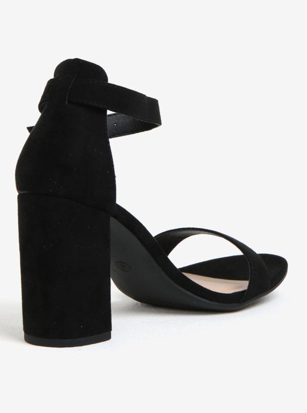 Čierne sandálky v semišovej úprave Dorothy Perkins