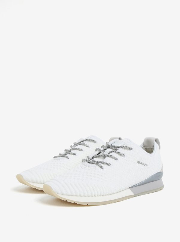 Biele dámske perforované tenisky GANT Linda  06ec4dc479e