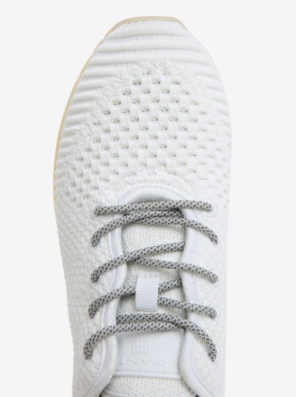 Biele dámske perforované tenisky GANT Linda