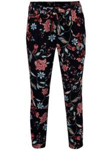 Tmavomodré kvetované nohavice Dorothy Perkins