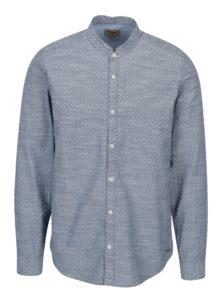 Modrá pánska vzorovaná košeľa Garcia Jeans Heren
