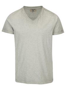 Sivé pánske tričko s véčkovým výstrihom Garcia Jeans Marco