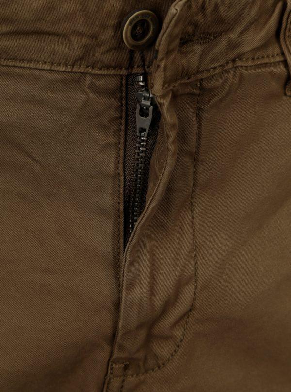 Kaki pánske slim fit chino nohavice Gracia Jeans Savio