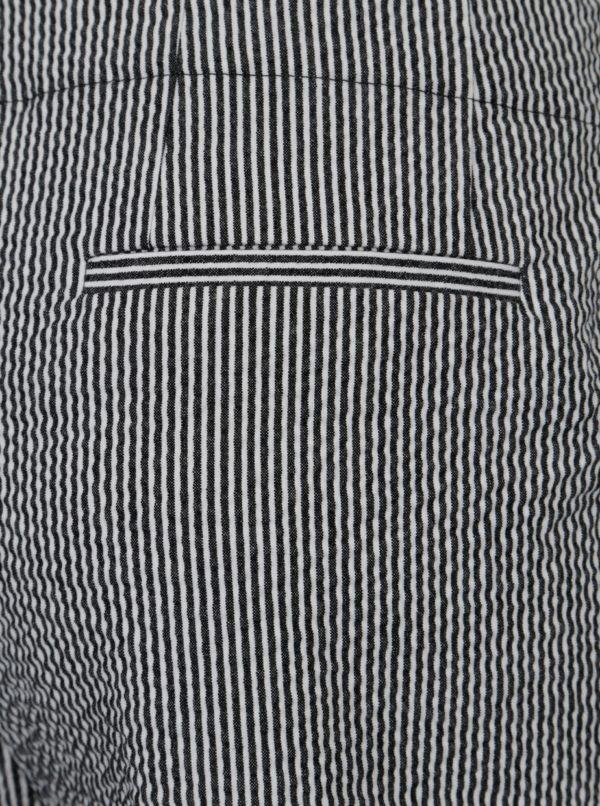 Bielo-čierne pruhované culottes nohavice Yesre