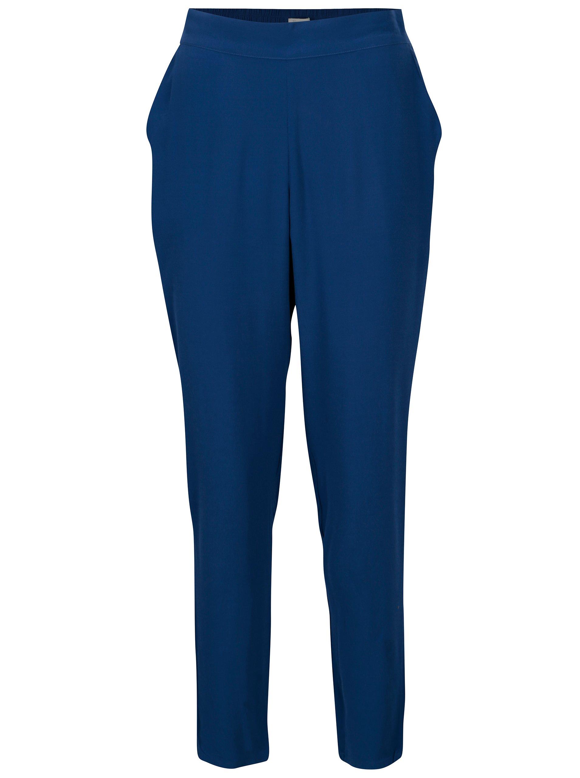 8852e436010d Modré voľné nohavice s vysokým pásom Yerse