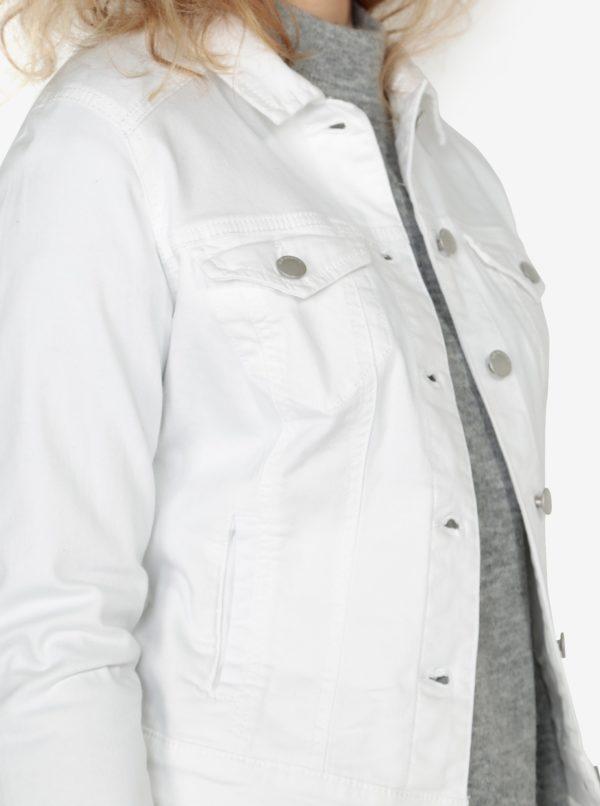 Biela dámska krátka rifľová bunda QS by s.Oliver