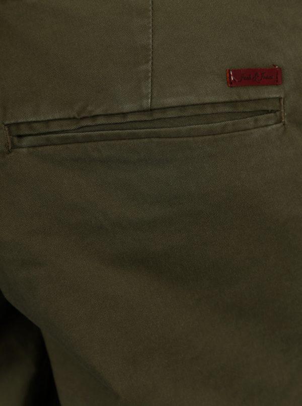 Zelené chino nohavice Jack & Jones Marco