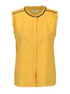 Žltá bavlnená blúzka bez rukávov Yerse