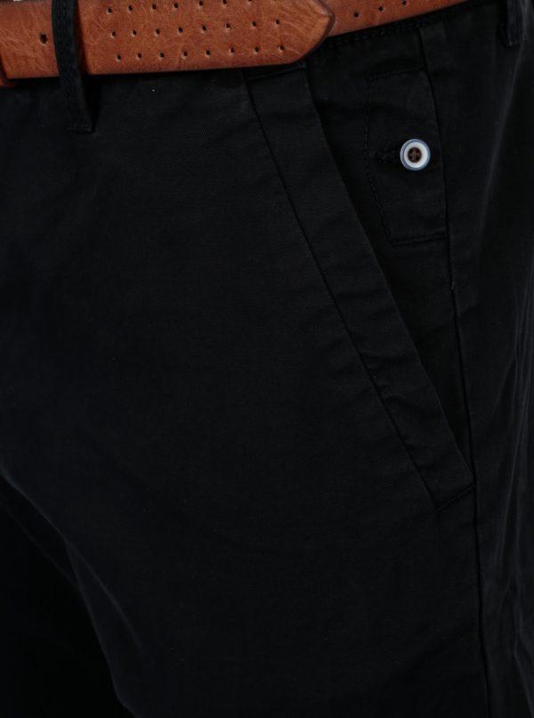 9469d0d2e842 Tmavomodré pánske slim fit chino nohavice s opaskom s.Oliver