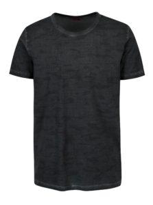 Tmavosivé pánske vzorované slim fit tričko s.Oliver