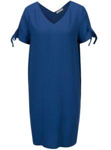 Modré šaty s véčkovým výstrihom Yerse