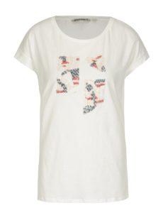 Krémové dámske tričko s flitrami Gracia Jeans