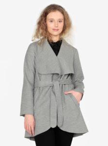 Sivý melírovaný tenký kabát ZOOT
