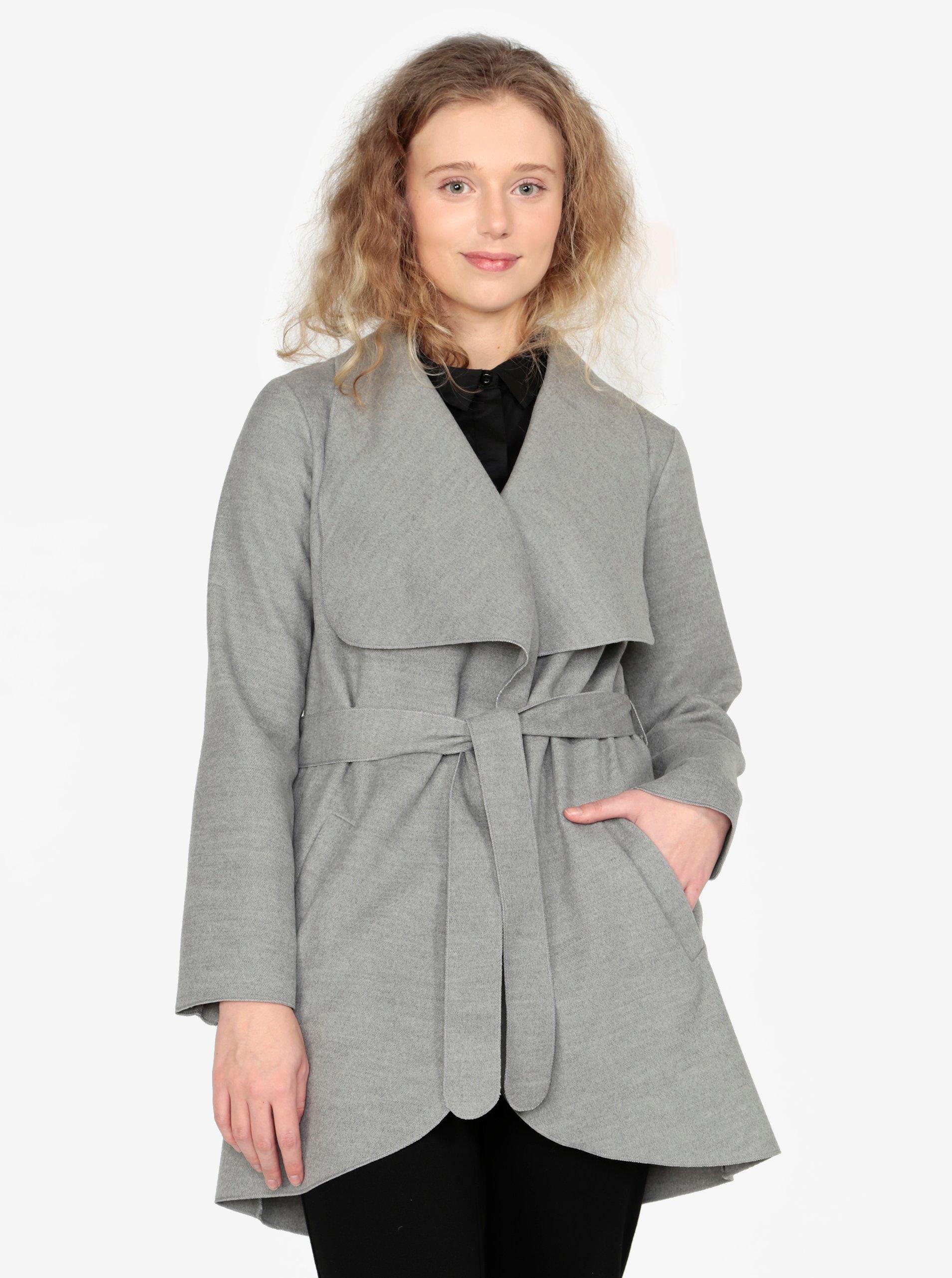 6ab0d75af Sivý melírovaný tenký kabát ZOOT | Moda.sk