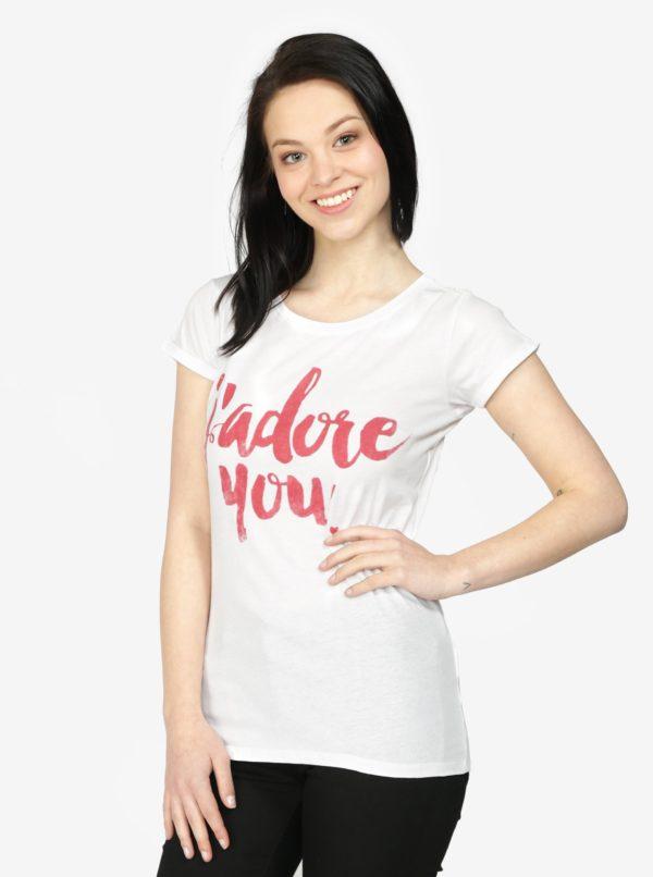 Biele tričko s potlačou Haily's Tamina