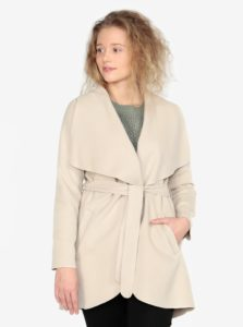 Krémový tenký kabát ZOOT