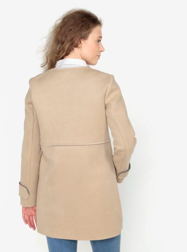 Béžový kabát v semišovej úprave ZOOT