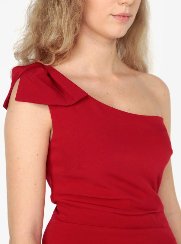 8abcac7b262c Červené asymetrické puzdrové šaty Oasis Lolita