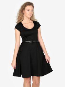 Čierne šaty s opaskom ZOOT