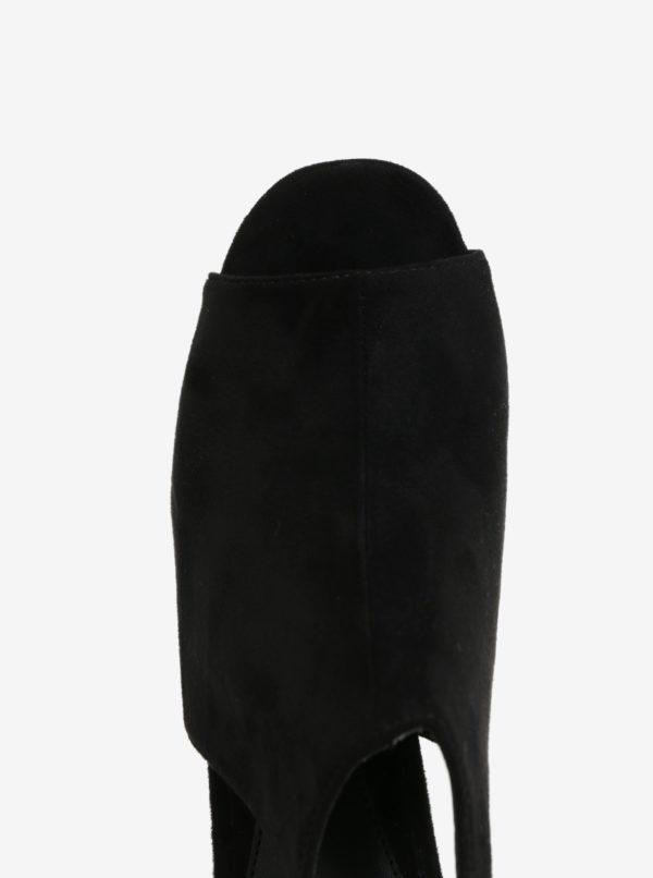 72220868ab77 Čierne sandále na platforme MISSGUIDED