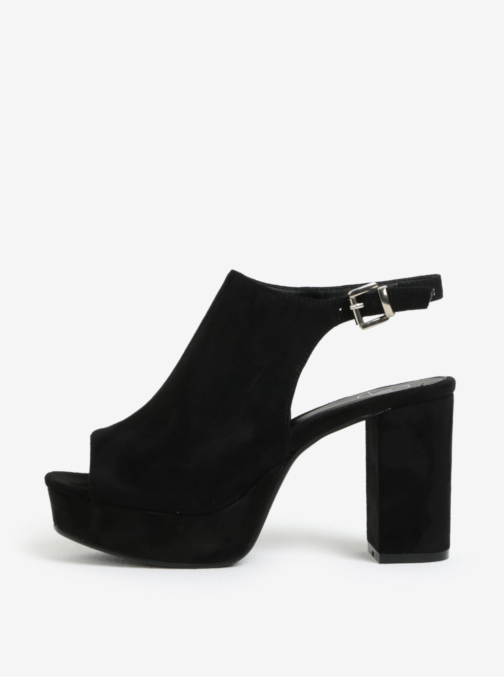 bf2183f8bd6d Čierne sandále na platforme MISSGUIDED