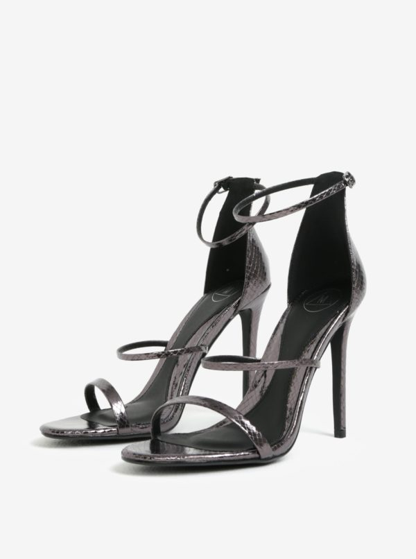 Čierne sandále na vysokom podpätku MISSGUIDED