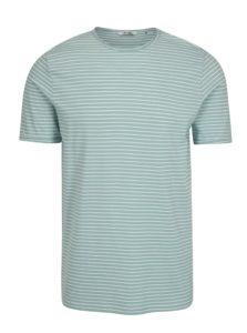 Svetlozelené pruhované tričko ONLY & SONS Albert Stripe
