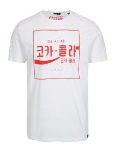 Biele tričko s potlačou ONLY & SONS Coca Cola