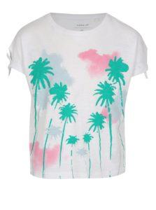 Biele dievčenské tričko s potlačou name it Veet