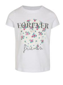 Biele dievčenské tričko s ligotavým nápisom name it Ivalaiane