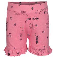 Ružové dievčenské vzorované kraťasy name it Vigga