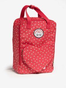 Červený bodkovaný batoh/kabelka Blutsgeschwister