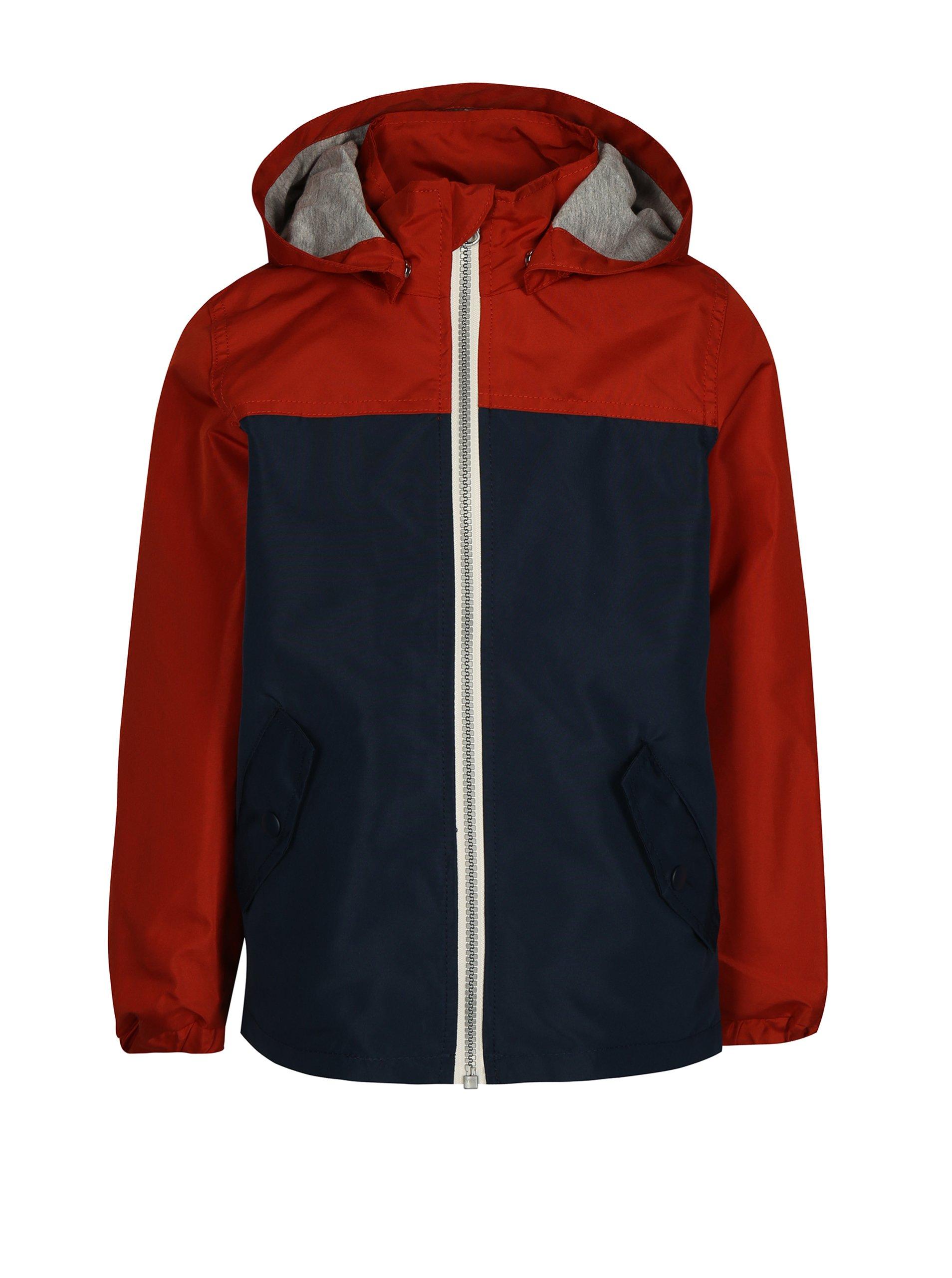 2efaf58f1692 Oranžovo-modrá chlapčenská bunda s kapucňou name it Mads