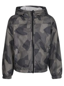 Sivá chlapčenská vzorovaná bunda s kapucňou name it Mix