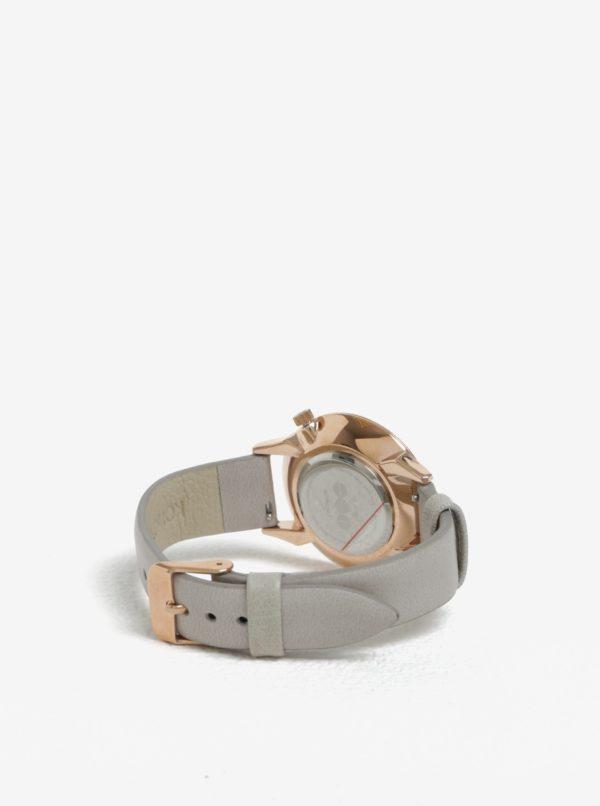 Dámske hodinky v ružovozlatej farbe s koženým remienkom Komono Estelle