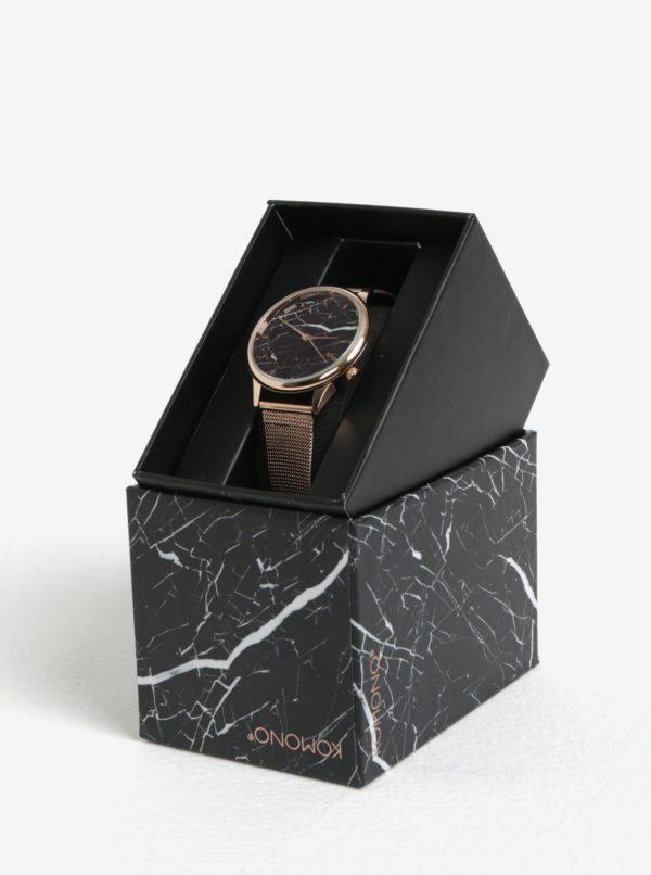 Dámske hodinky v ružovozlatej farbe s kovovým remienkom Komono Estelle Royale