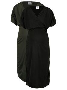 Súprava dvoch tehotenských šiat v zelenej a čiernej farbe Mama.licious Pilar