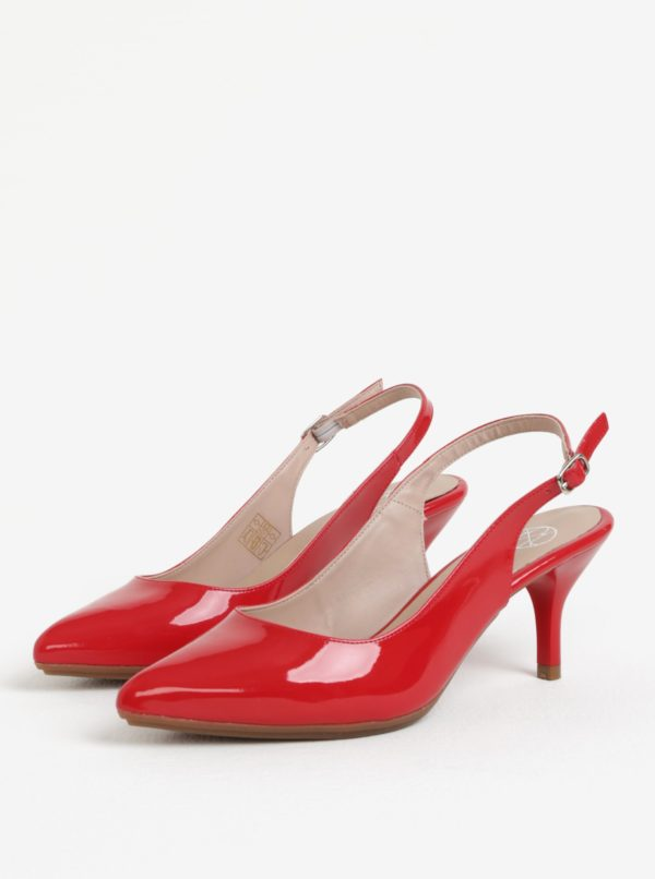 b693442f3a Červené lesklé sandálky OJJU