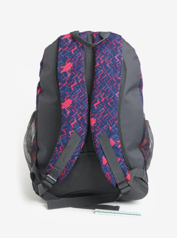 Modro-ružový vzorovaný dievčenský batoh LOAP Shaw 25 l