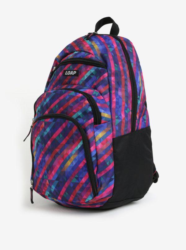 Ružovo-modrý vzorovaný batoh LOAP Reny 20 l