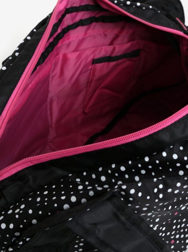 Čierna vzorovaná športová taška LOAP Sandrine 30 l