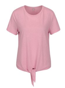 Ružové tričko s uzlom ONLY Uma